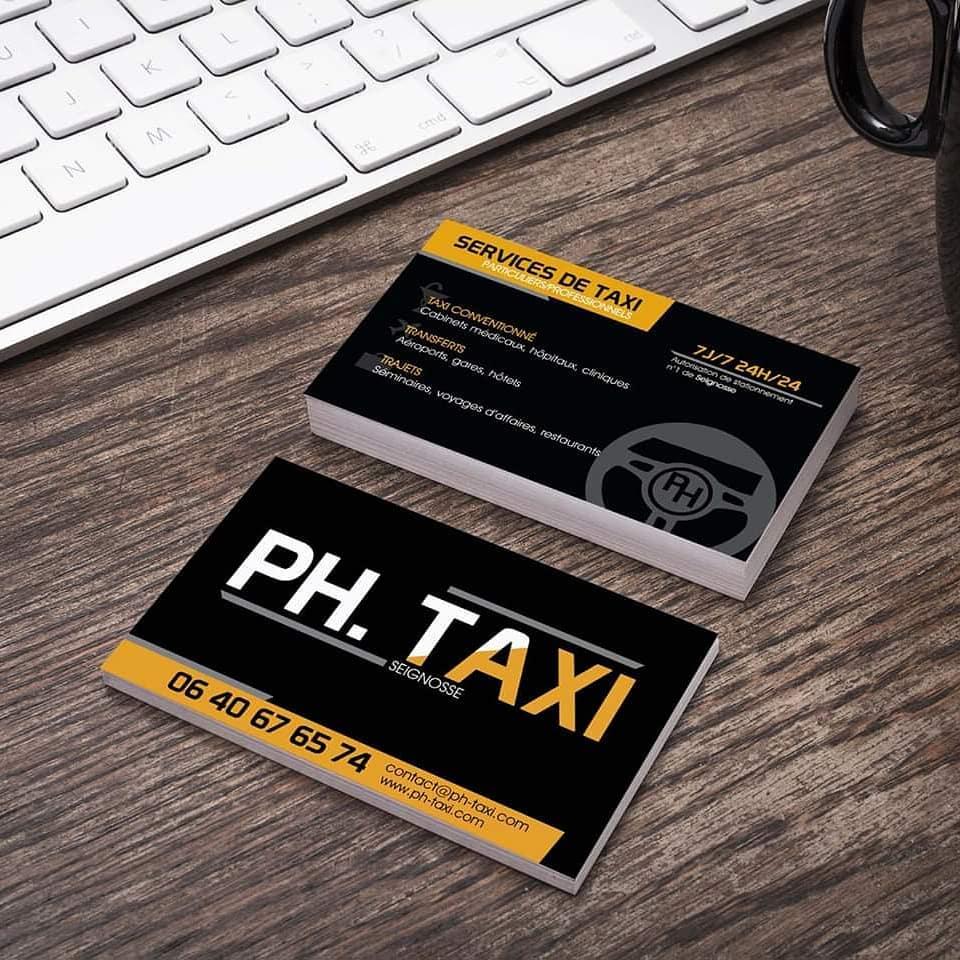 Réalisation charte graphique taxi et vtc landes
